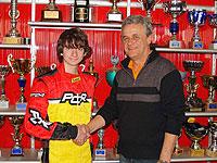 Alex Fontana con il titolare della P.C.R. Gigi Cavaciuti
